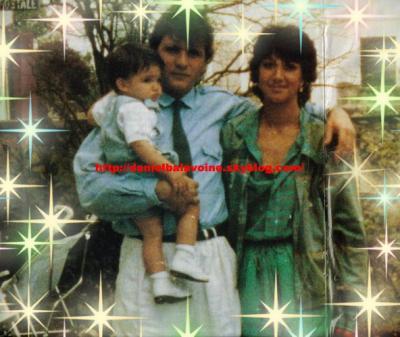 Daniel Balavoine, sa femme et son fils